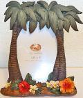ハワイアン・フォトフレーム(写真立て)/椰子の木とハワイアンフラワー
