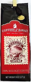 COFFEES of HAWAII・100%MOLOKA'I/ 100%モロカイコーヒー