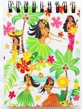 【ハワイアン雑貨・最安値を目指します】ハワイアンノートブックS(フラガール)