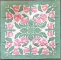 ハワイアンキルトタペストリー/壁掛け(Anthurium・ビックサイズ12)