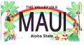 【ハワイアン雑貨・最安値を目指します】ハワイアン看板/マウイ