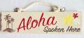 【ハワイアン雑貨・最安値を目指します】ハワイアンサイン・ウッドプレート/アロハ