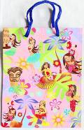 【ハワイアン雑貨・最安値を目指します】ハワイアン・ギフトバッグ・紙袋/フラハニーM
