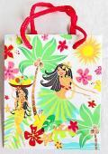 【ハワイアン雑貨・最安値を目指します】ハワイアン・ギフトバッグ・紙袋/フラガールS