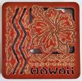 【ハワイアン雑貨・最安値を目指します】ハワイアン・コースター/ハイビスカスハワイ