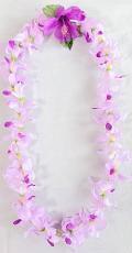 【ハワイアン雑貨・最安値を目指します】ハワイアンレイ/オーキッド Orchid・パープル14280