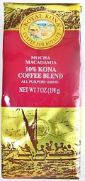 ロイヤルコナコーヒー・モカマカダミア7oz(198g)