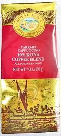 ロイヤルコナコーヒー・キャラメルカプチーノ7oz(198g)