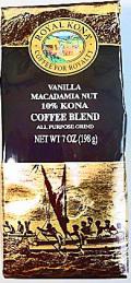 【期間限定・激安SALE品】ロイヤルコナコーヒー/バニラマカダミア/粉タイプAD7oz(198g)