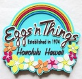 【ハワイ限定・Eggs'n Things】エッグスンシングス・ハワイアンマグネット/ブルー