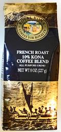 ロイヤルコナコーヒー・フレンチロースト/粉タイプAD8oz(227g)
