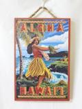 【1点商品】ハワイアン看板・ウッドプレート/アロハフラガール