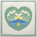 ハワイアンキルトクッションカバー/ダイヤモンドヘッド