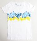 ハワイアン・ハイビラインフラTシャツ/レディース/ホワイトMサイズ