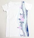 ハワイアン・トラインフラTシャツ/レディース/ホワイトMサイズ