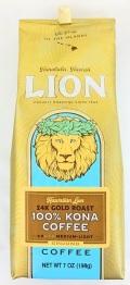 ライオン100%コナコーヒー/24Kゴールドロースト/粉タイプAD(198g)