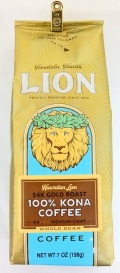 ライオン100%コナコーヒー/24Kゴールドロースト/豆タイプWB(198g)