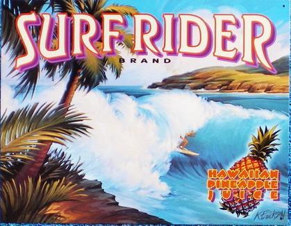【円高還元SALE】ハワイアン看板/SURF RIDER