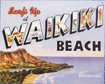 【円高還元SALE】ハワイアン看板/WAIKIKI BEACH