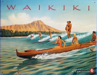 【円高還元SALE】ハワイアン看板/WAIKIKI