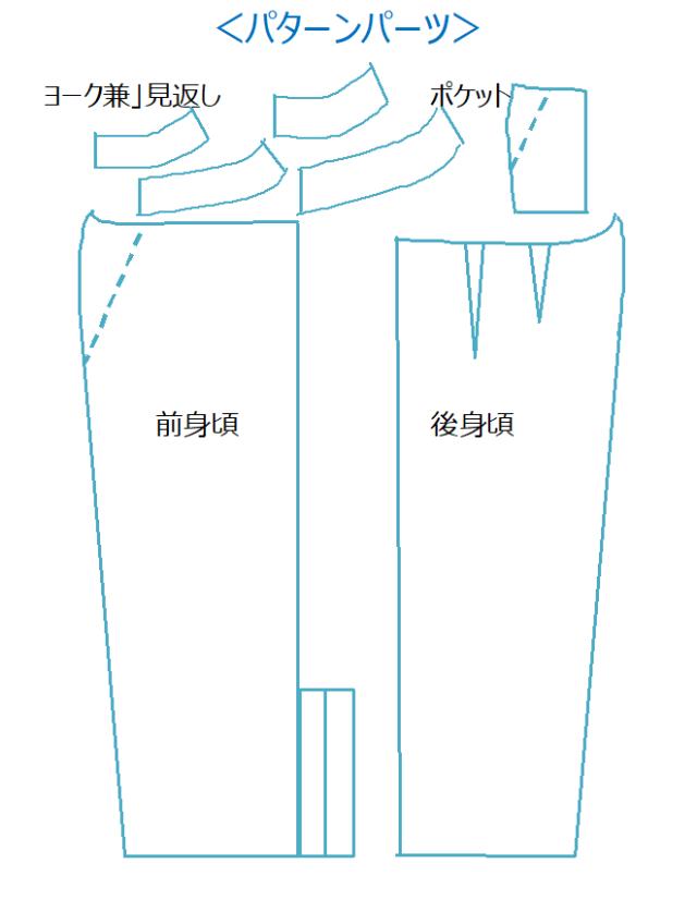 身長150cm前後のSサイズの型紙ショップminimumです。手作り感を感じさせない仕上がり洗練されたデザインです