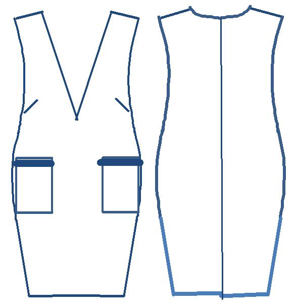 Sサイズさんのための大人ジャンパースカート 型紙