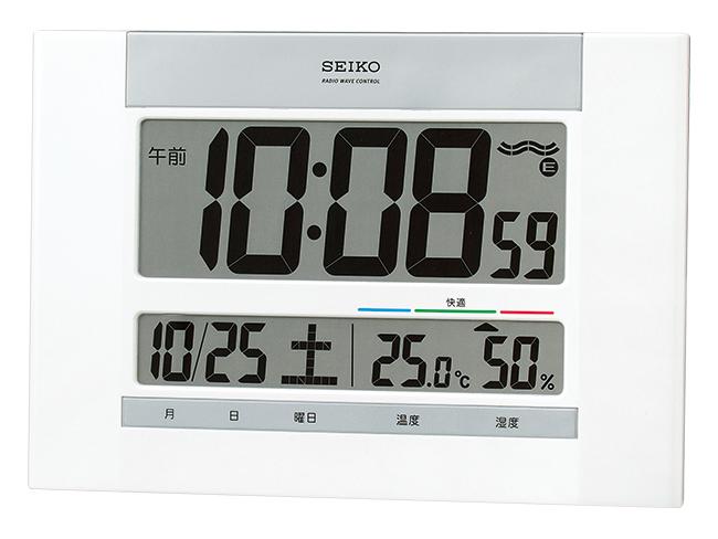 SEIKO 快適度表示付デジタル電波時計(掛置兼用) No.50