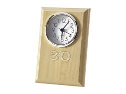 レーザー木象嵌 数字記念時計 白木目