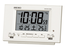 SEIKO 夜でも見える(自動点灯タイプ)デジタル電波時計 No.30