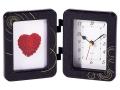 フォトフレーム時計(ゴールドライン)黒