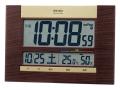 SEIKO 快適度表示付デジタル電波時計(掛置兼用) No.60