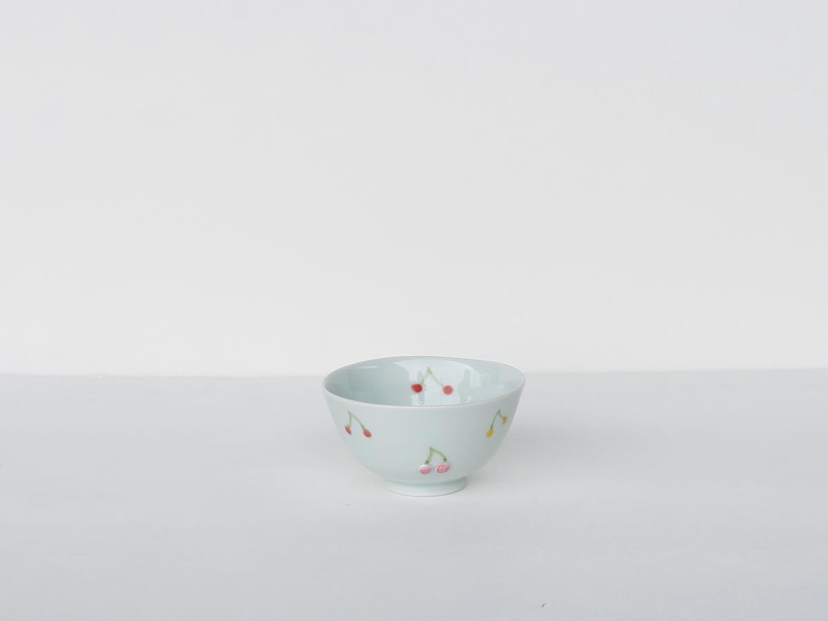【こどものうつわ】 サクランボ ミニ お茶碗 吉田焼