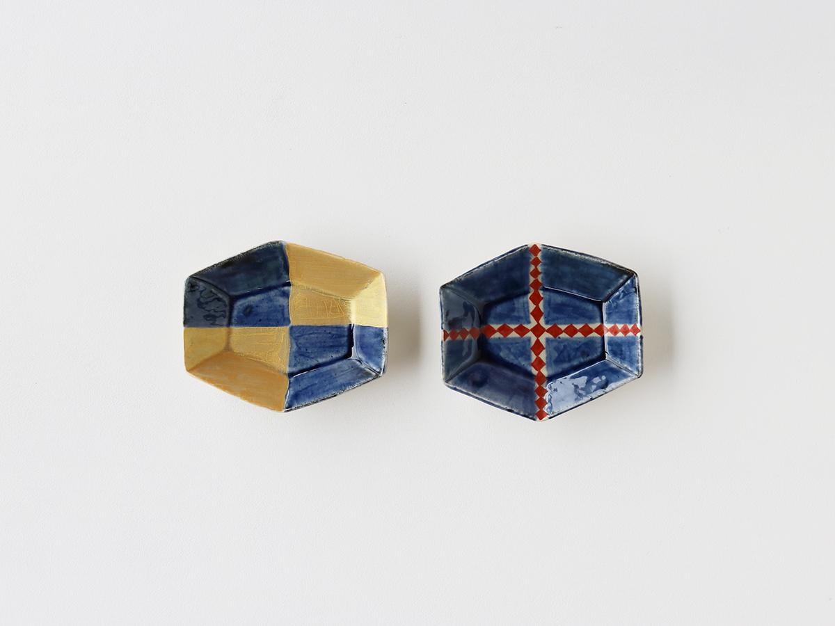 型打ち 六角皿(小)有田焼
