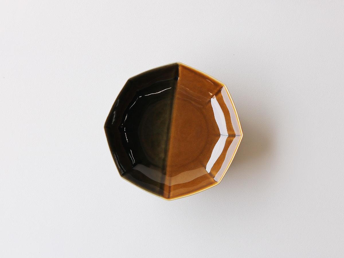 キャメル掛け分け 八角平鉢 有田焼