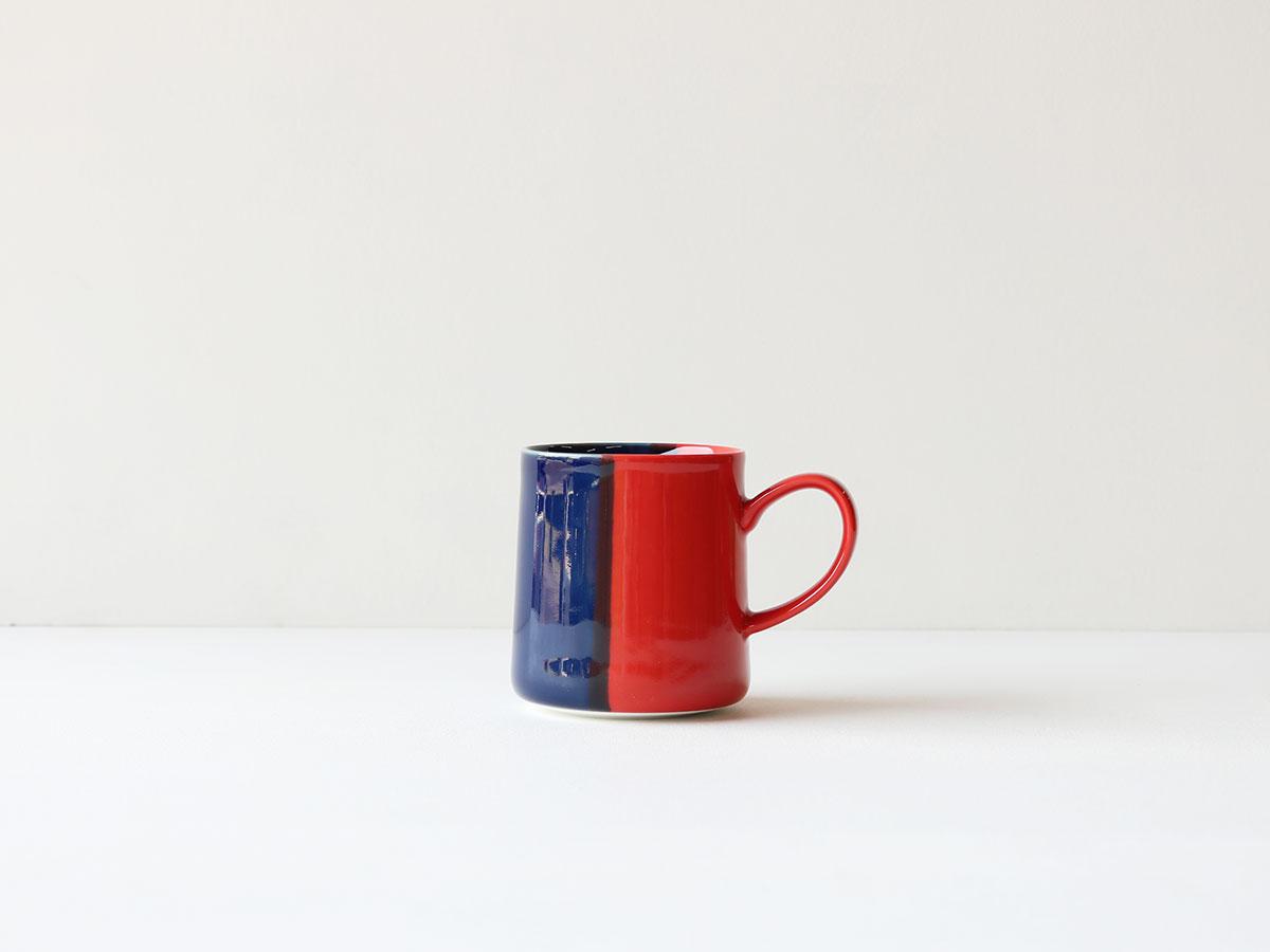 【11月初旬お届けの予約販売:お1人さま5点まで】色釉 レッド×ブルー マグカップ 波佐見焼