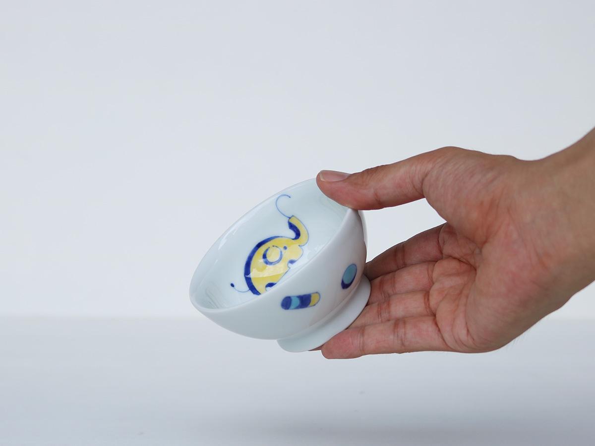 【こどものうつわ】黄色いぞう お茶碗 有田焼
