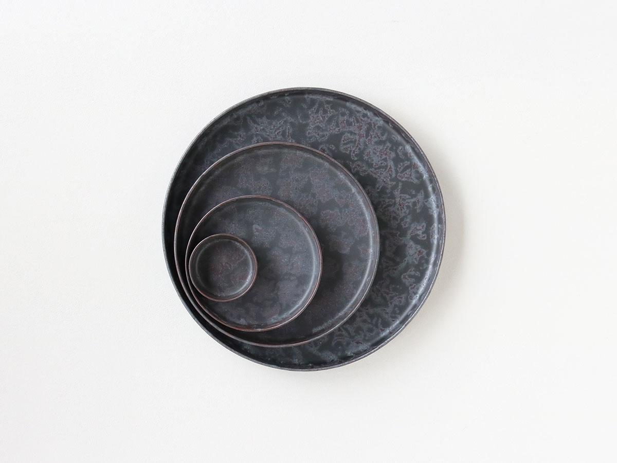 黒サビ絞り バーチカルプレート 4枚セット 有田焼