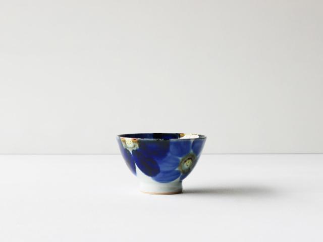 藍花 茶碗 波佐見焼