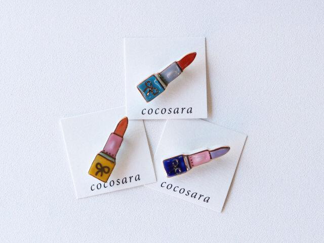 cocosara リップ ブローチ 有田焼