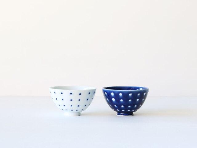 釉ドット 茶碗 肥前吉田焼