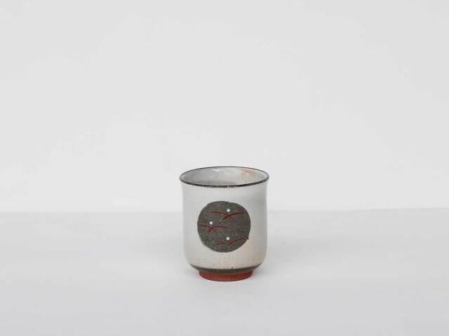 【デッドストック】 倉庫から発掘した素朴な湯呑 波佐見焼(粉引丸紋小コップ小)