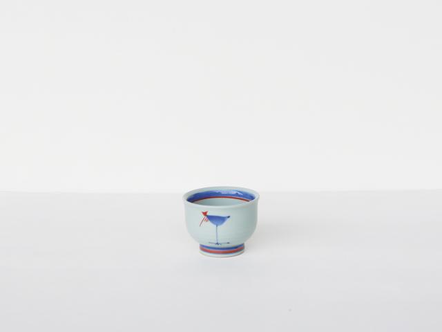 【デッドストック】古代文明っぽい 鳥 お湯のみ 波佐見焼