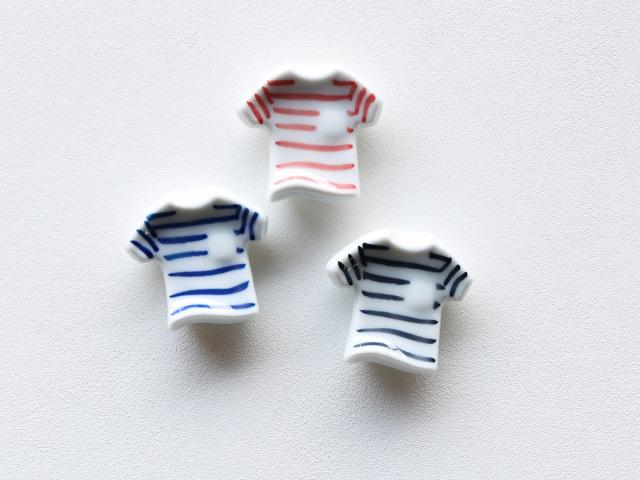 ボーダー Tシャツ 箸置き 有田焼