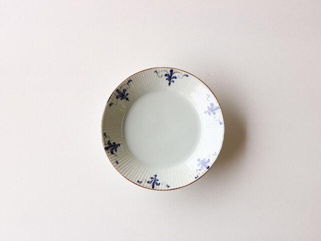 リーフ紋 しのぎ7寸皿 有田焼
