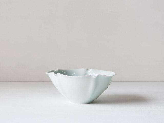 青白磁 5寸 輪花 鉢 有田焼