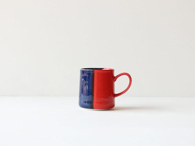 【クリスマスまでにお届け! 秋のWeb陶器市限定50個の予約販売】色釉 レッド×ブルー マグカップ 波佐見焼