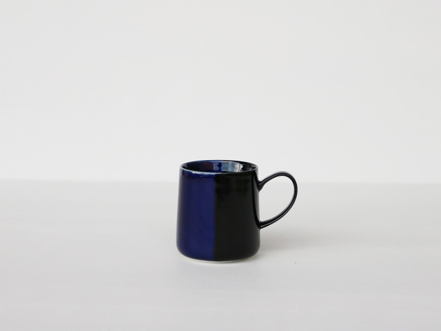 色釉 ブルー×ブラック マグカップ 波佐見焼