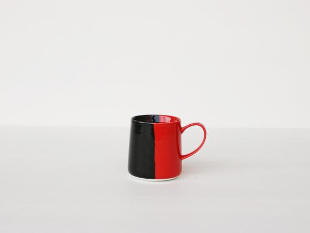 【予約販売】色釉 レッド×ブラック マグカップ 波佐見焼