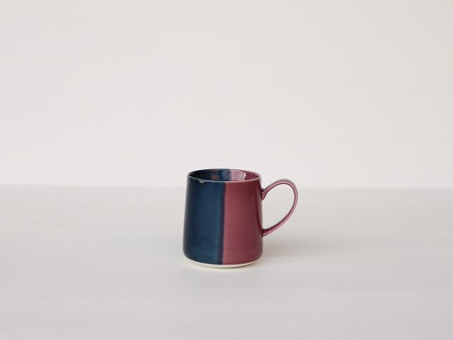 【予約販売】色釉 ブルー×パープル マグカップ 波佐見焼
