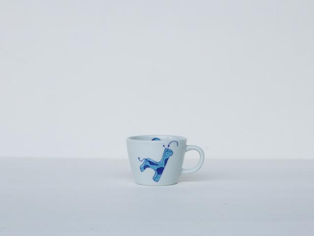 【こどものうつわ】青いきりんミニマグ 有田焼